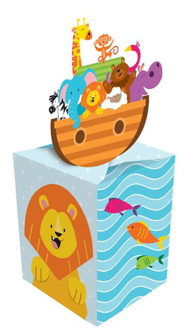 Noah's Ark Favour Boxes or Centrepieces 3D Cardboard 11cm x 5cm x 5cm - Pack of 8