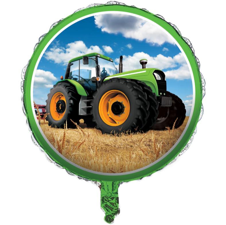 45cm Tractor Time Foil Balloon (Self sealing balloon, Requires helium inflation) - Each