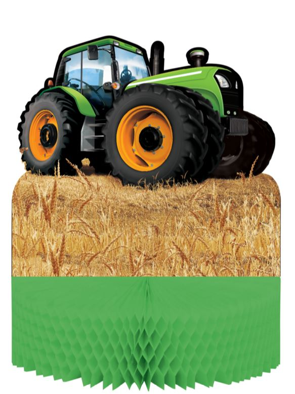 Tractor Time Centrepiece Honeycomb Cardboard 23cm x 30cm - Each