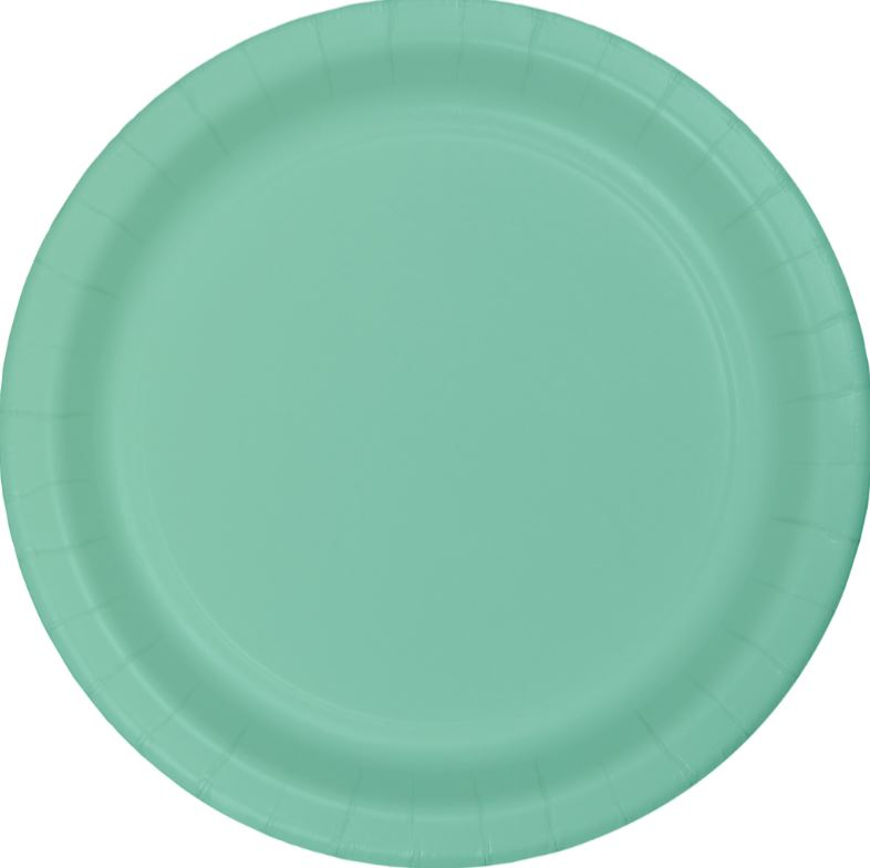 Fresh Mint Green Luncheon Plates Paper 18cm  - Pack of 24