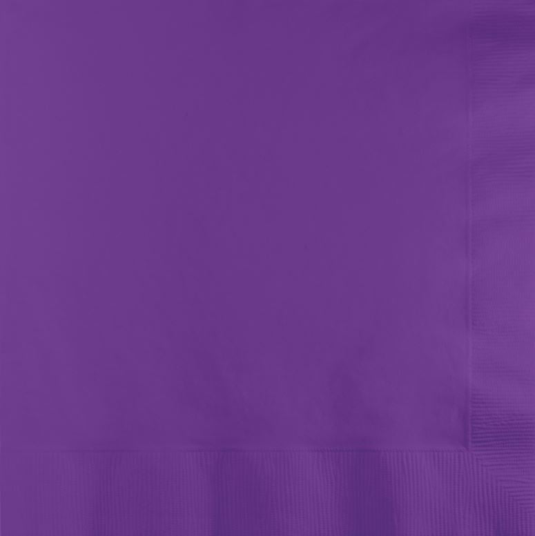 Amethyst Purple Luncheon Napkins 33cm x 33cm 2 Ply - Pack of 50