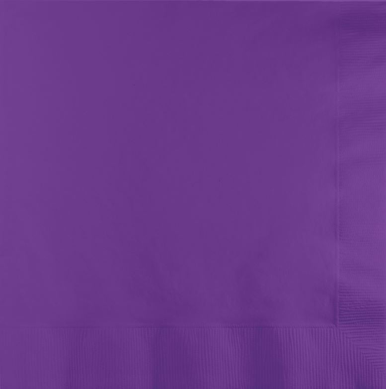 Amethyst Purple Beverage Napkins 25cm x 25cm 2 Ply - Pack of 50