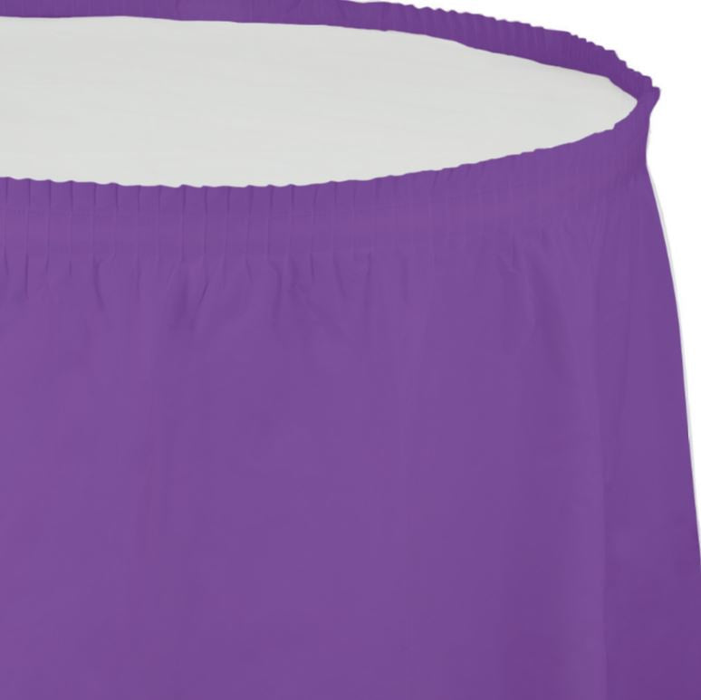 Amethyst Purple Table Skirt Plastic 74cm x 4.26m with Adhesive Backing Strip - Each