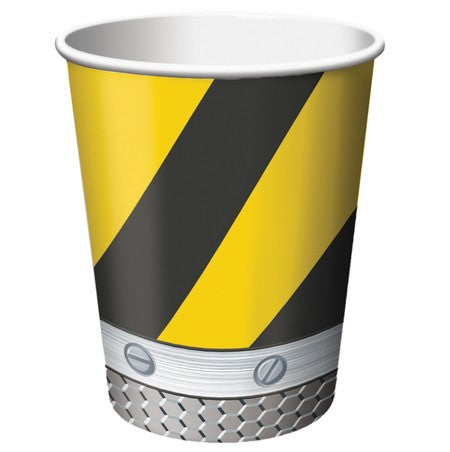 Construction Birthday Zone Cups Hot/Cold (266ml) Paper - Pack of 8