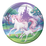 Unicorn Fantasy Dinner Plates Paper 22cm - Pack of 8
