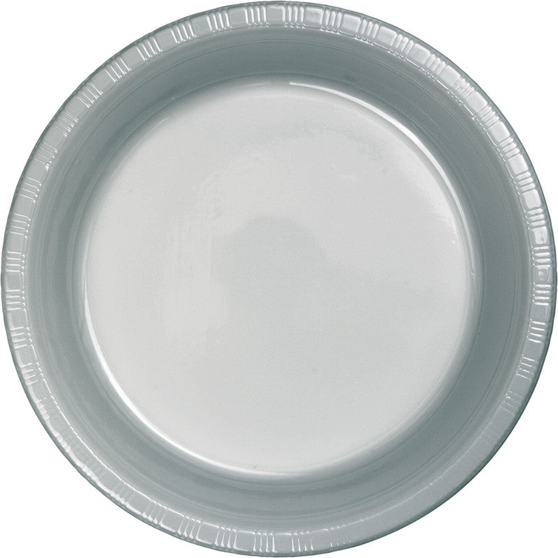 Shimmering Silver Banquet Plates Paper 26cm  - Pack of 24