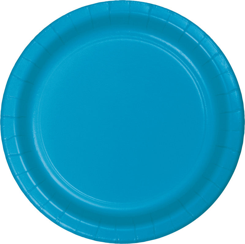 Turquoise Banquet Plates Paper 26cm  - Pack of 24