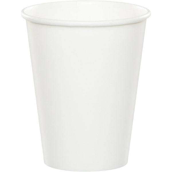 Celebrations White Cups Hot/Cold Paper 266ml - Pack of 8