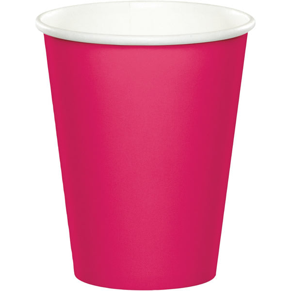 Celebrations Hot Magenta Cups Hot/Cold Paper 266ml - Pack of 8