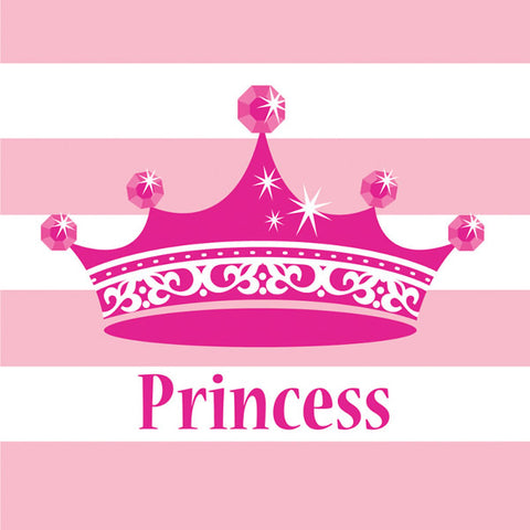 Celebrations Pink Princess Beverage Napkins Royalty 2 Ply (24.8cm x 24.7cm) - Pack of 16