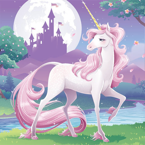 Unicorn Fantasy Beverage Napkins 25cm x 25cm 2 Ply - Pack of 16