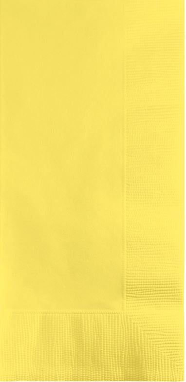 Mimosa Yellow Dinner Napkins 40cm x 40cm 1/8 Fold, 2 Ply - Pack of 50