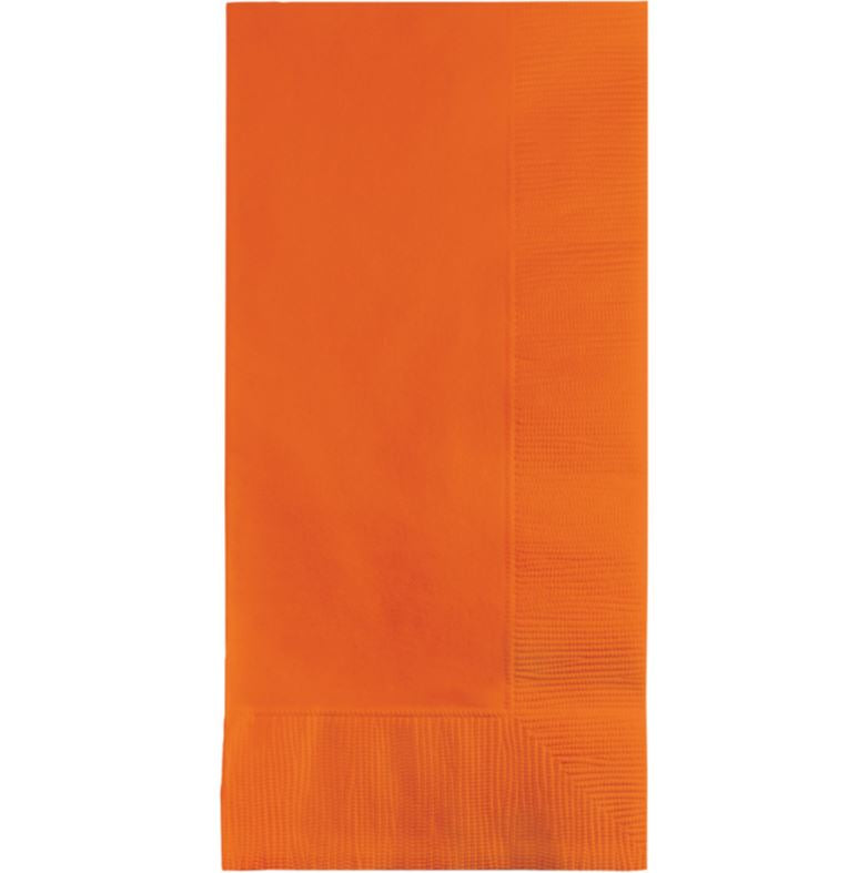 Sunkissed Orange Dinner Napkins 40cm x 40cm 1/8 Fold 2 Ply - Pack of 50