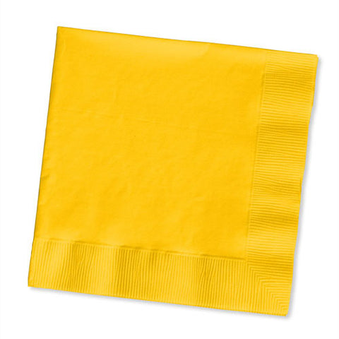 School Bus Yellow Beverage Napkin