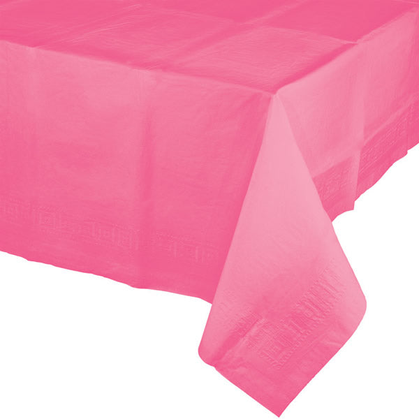 Celebrations Candy Pink Tablecover Plastic 137cm x 274cm - Each