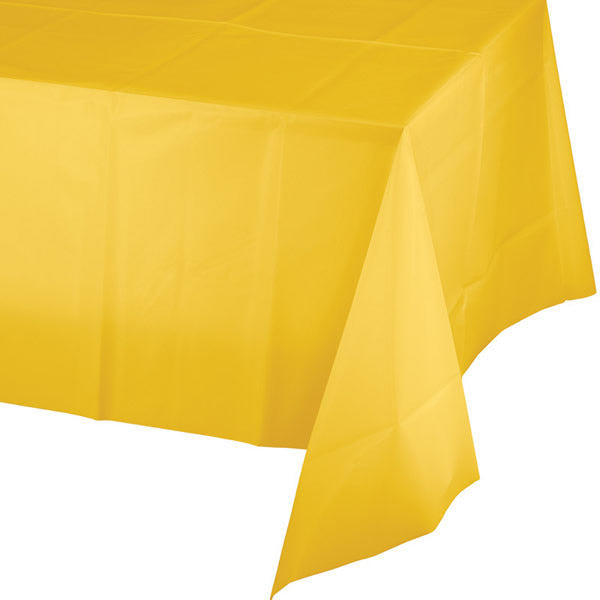 Celebrations School Bus Yellow Tablecover Plastic 137cm x 274cm - Each