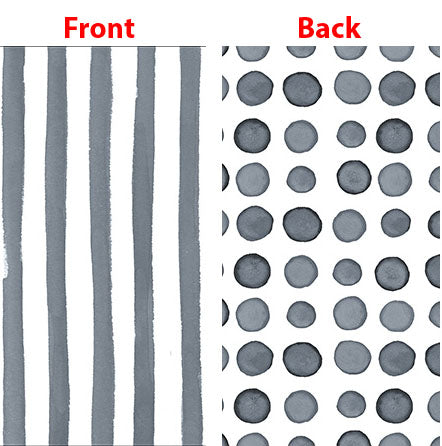 Elise Platinum Silver Guest Towels Napkins 3 Ply - 2 Sided Print Dots & Stripes 27cm x 40cm - Pack of 16