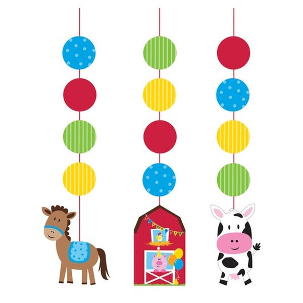 Farmhouse Fun Hanging Cutouts 91cm in Length - Large Cutout is 18cm Cardboard - Pack of 3