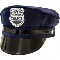 Police Hat Cap Adjustable Back