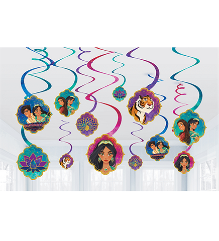Aladdin Hanging Spiral Swirl Decoration 12 pack