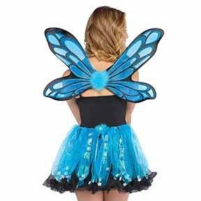 Fairies Fairy Kit Blue with skirt tutu and wings Adult
