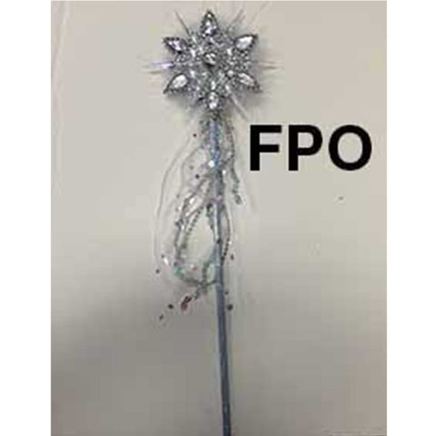 Fairytale Snowflake Wand with feathers