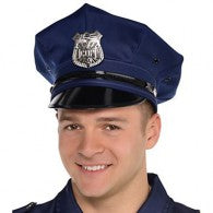 Police Deluxe Hat One Size Fits Most - Adjustable Back