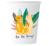 Lion King Paper Cups 266ml x8