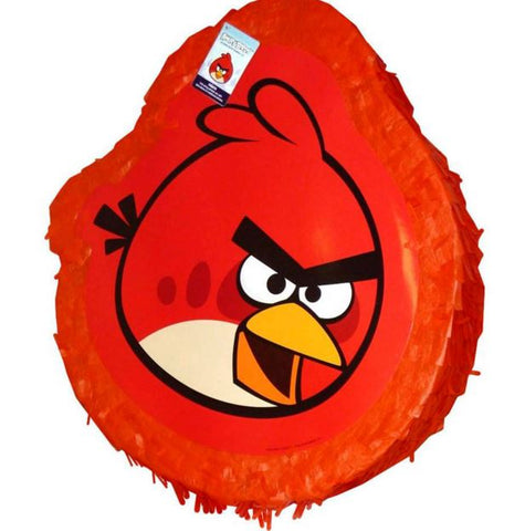 Angry Birds Red Pinata Shape Drum Pull Type (Not suitable for Express Post due to size of product) - Each