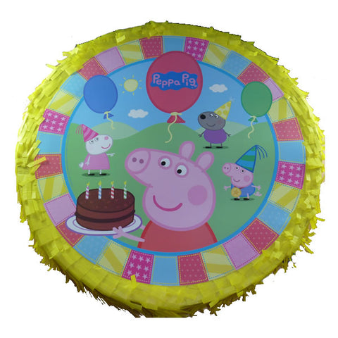 Peppa Pig Pinata Drum Pull Type (Not suitable for Express Post due to size of product) - Each