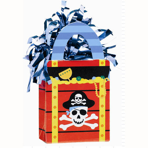 Balloon Weight Tote Pirate Party (14cm High x 4cm Deep x 7.5cm Wide) Weighs 175 grams - Each