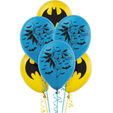 Batman Latex Balloons 30cm  - Pack of 6