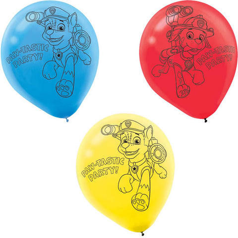 Paw Patrol Balloons Red Blue Yellow