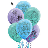 Ariel Dream Big Latex Balloons Little Mermaid 30cm Assorted - Pack of 6