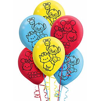Tsum Tsum Latex Balloons 30cm Assorted  - Pack of 6