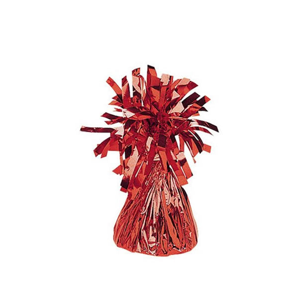 Balloon Weight Red Mylar PER EACH 150g - Each