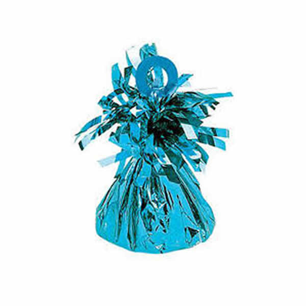 Balloon Weight Caribbean Blue Mylar 150g - Pack of 12
