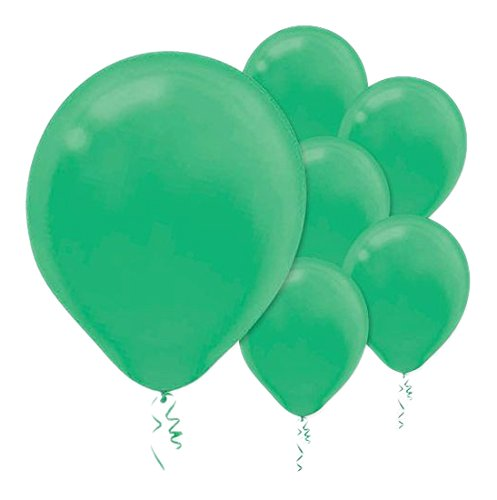 28cm Festive Green Latex Balloons 72PK  - Pack of 72