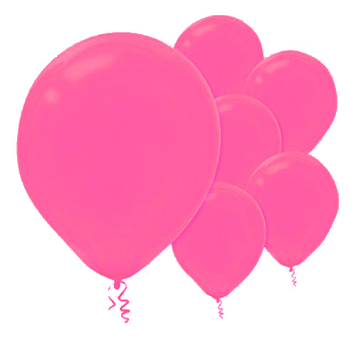 28cm Bright Pink Latex Balloons 72PK  - Pack of 72