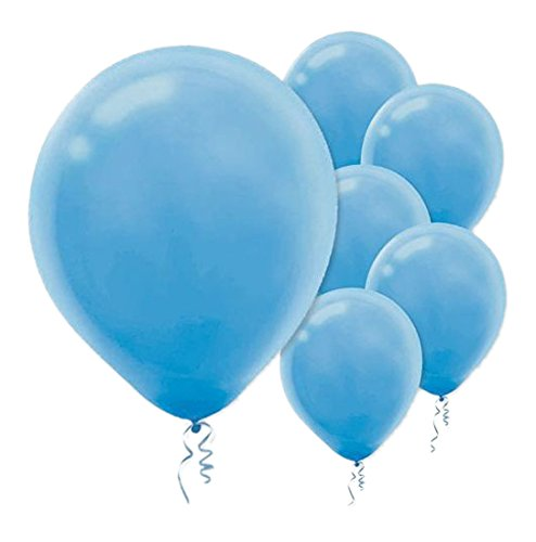 28cm Pale Blue Latex Balloons 72PK  - Pack of 72