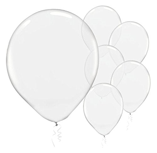 28cm Jewel Clear Latex Balloons 72PK  - Pack of 72