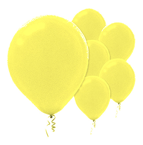 28cm Pearl Yellow Latex Balloons 72PK  - Pack of 72
