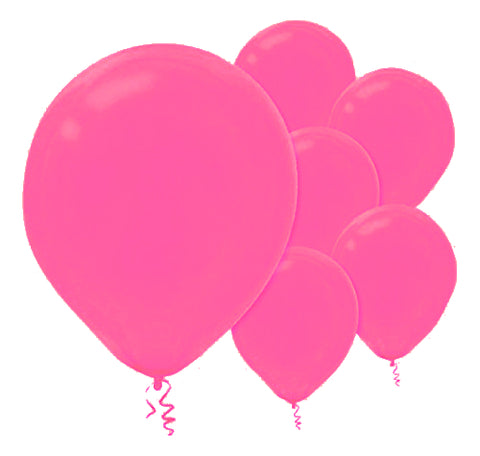 28cm Bright Pink Latex Balloons 15PK  - Pack of 15