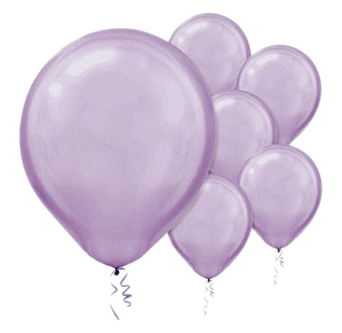 28cm Pearl Lavender Latex Balloons 15PK  - Pack of 15