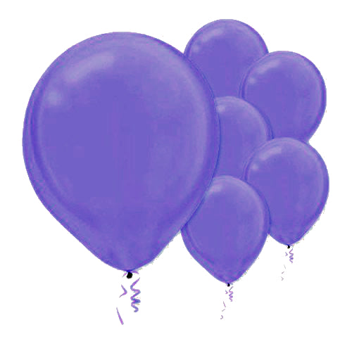 28cm Pearl New Purple Latex Balloons 15PK  - Pack of 15