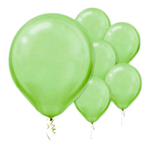28cm Pearl Kiwi Lime Green Latex Balloons 15PK  - Pack of 15