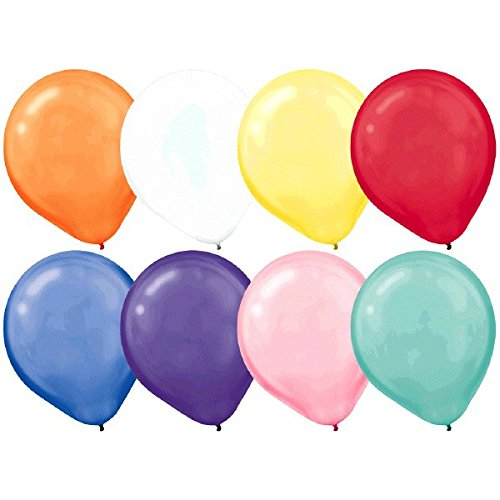 28cm Pearl  Assorted Latex Balloons 15PK  - Pack of 15