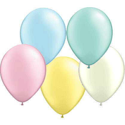 28cm Pearl Pastel Assorted - Latex Balloons 15PK  - Pack of 15
