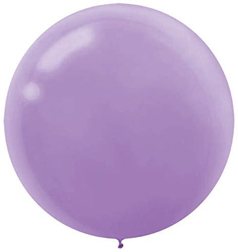 60cm Lavender Round Latex Balloons  - Pack of 4