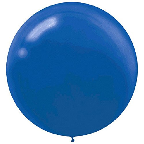 60cm Bright Royal Blue Round Latex Balloons  - Pack of 4